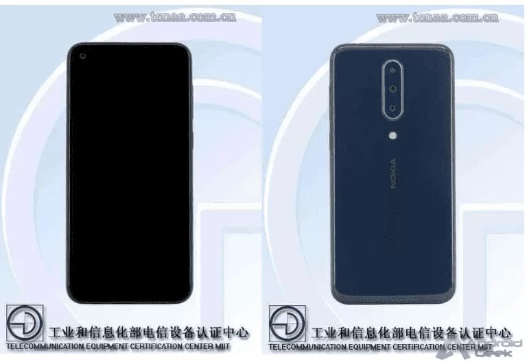 Design do Nokia 8.1 Plus revelado através da TENAA 2