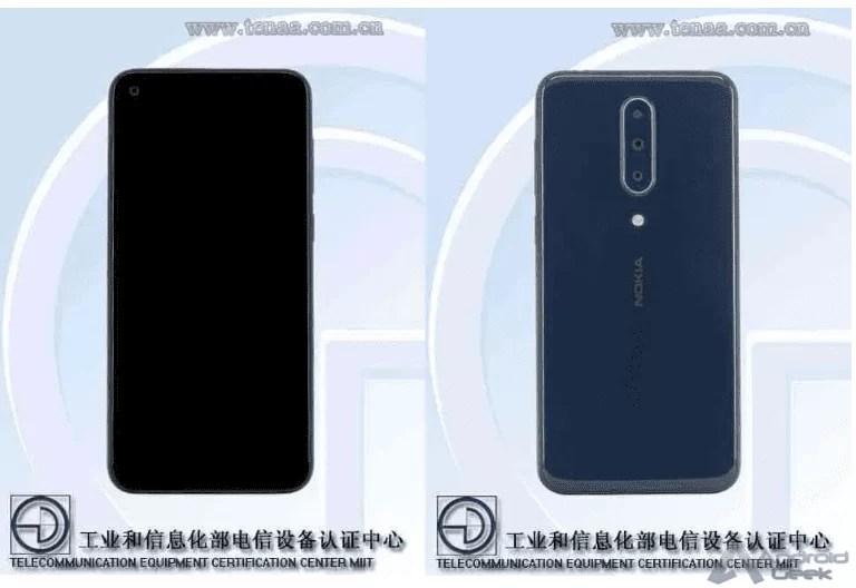 Design do Nokia 8.1 Plus revelado através da TENAA 2
