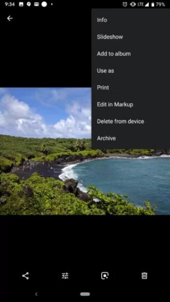 Novo APK com atualização do Google Fotos corrige os bugs no modo escuro Android Q 5