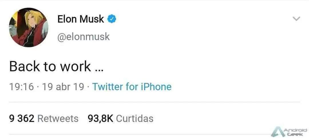 NETFLIX. Elon Musk mostra ser fã de Fullmetal Alchemist no Twitter 1