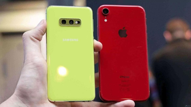 Samsung Galaxy S10e vs. iPhone da Apple XR 1