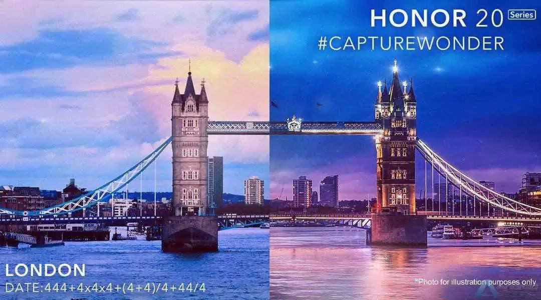 Série Honor 20 a estrear em Londres a 21 de maio 1