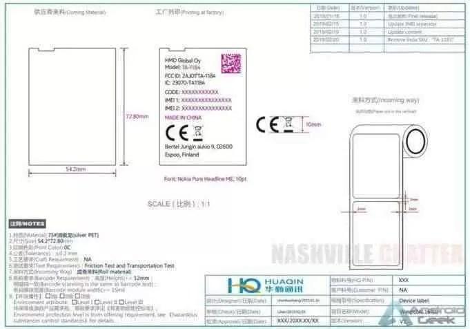 Nokia TA-1184 com nome de código Wasp, passou em certificação 1