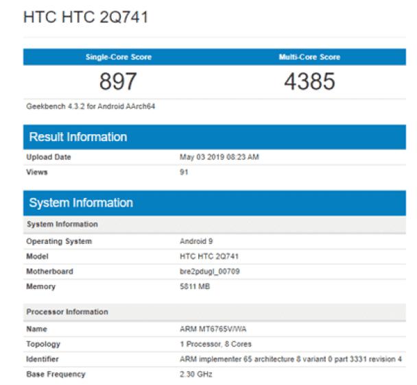 HTC 2Q741 Geekbench