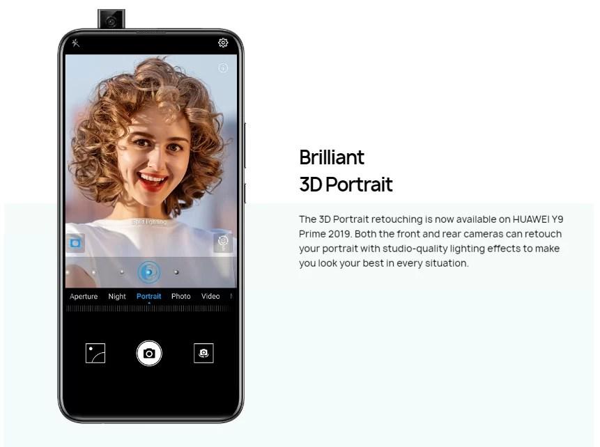Huawei Y9 Prime 2019 retrato 3D