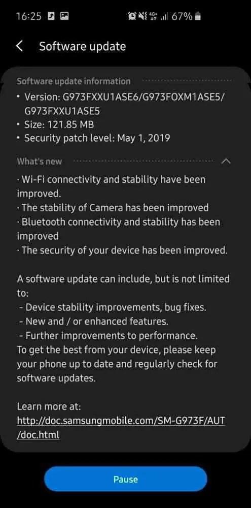 Samsung retoma a atualização do Galaxy S10 após corrigir as falhas