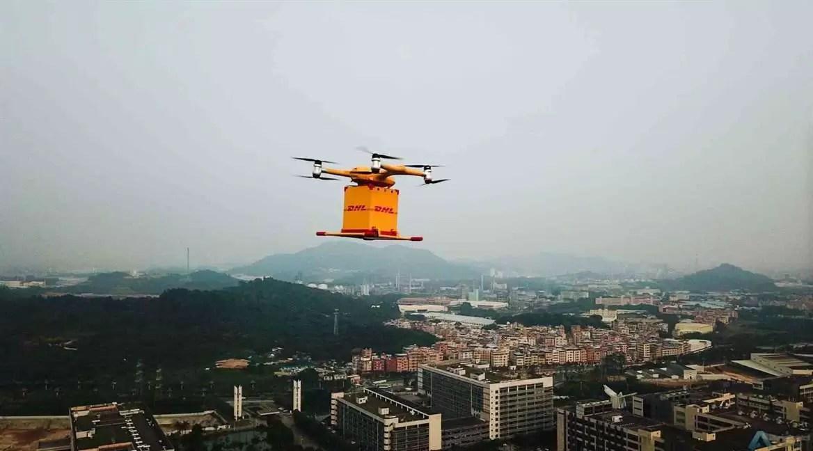DHL Express inicia serviço de entrega com drones 3