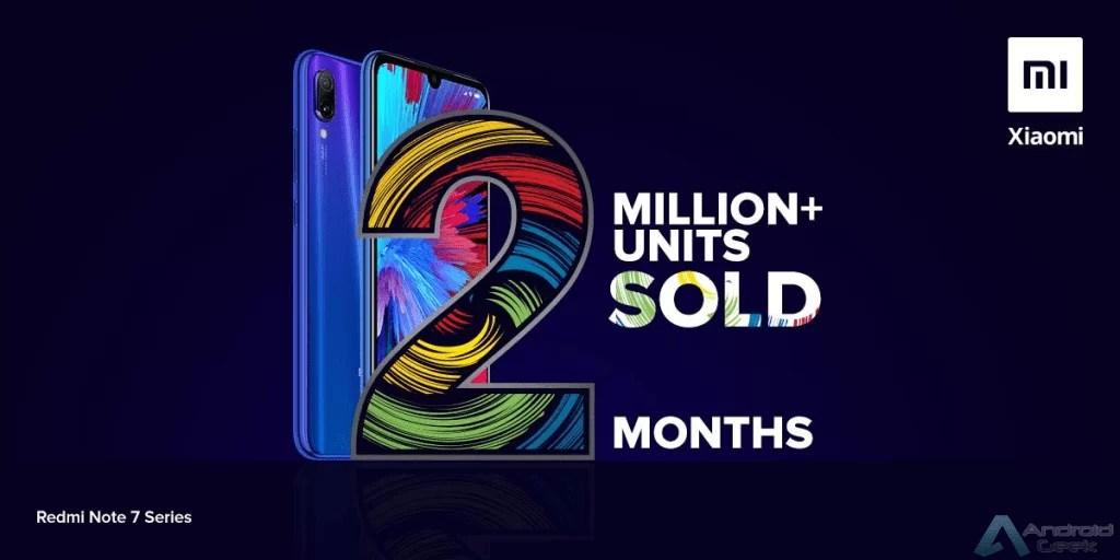 Série Redmi Note 7 atingiu 2 milhões de unidades vendidas na Índia 1