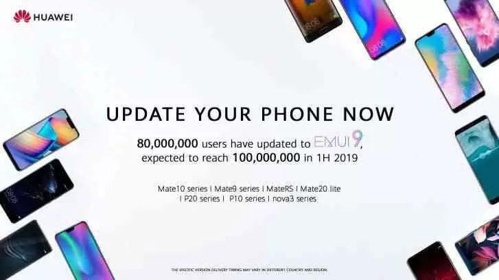 EMUI 9 da Huawei atinge 80 milhões de utilizadores, chega ao Mate 9 e P10 este mês 1