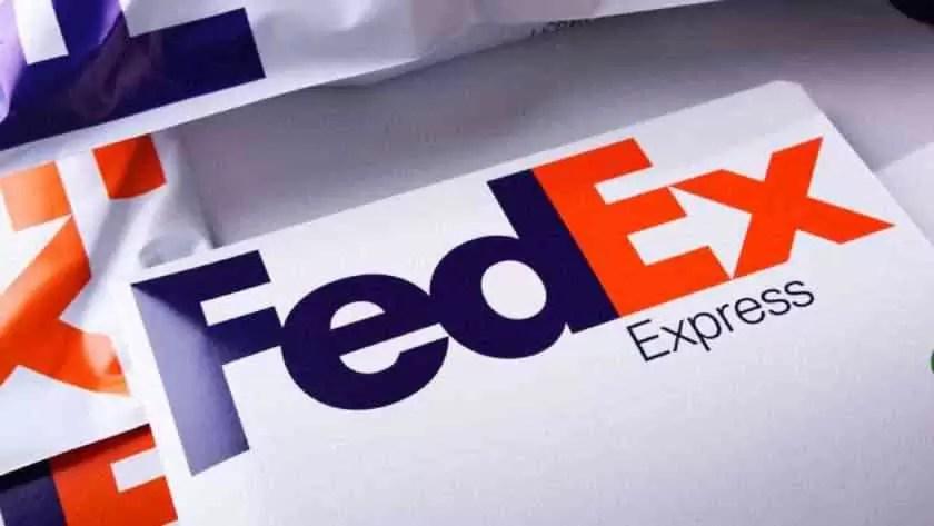 Imagem de um pacote da FedEx