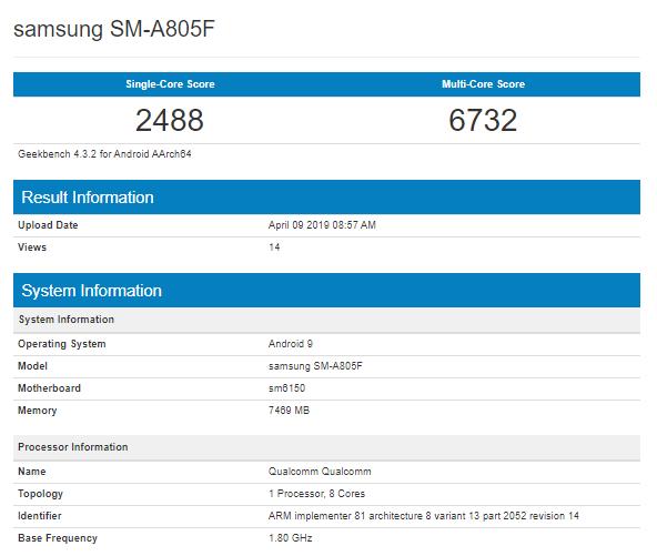 Samsung Galaxy A90 aparece no Geekbench com SD730 ou SD730G? 3