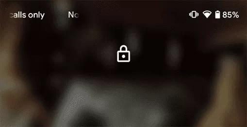 Android Q Beta 4 move o ícone de bloqueio no ecrã para o topo 1
