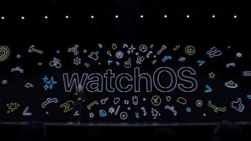 Imagem de evento watchOS do Apple WWDC 2019.