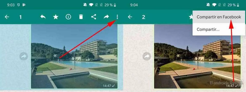 O WhatsApp ativa um misterioso botão para partilhar no Facebook