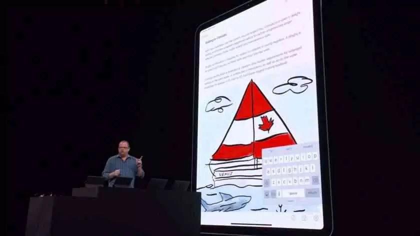 Uma captura do ecrã do evento WWW 2019 da Apple.