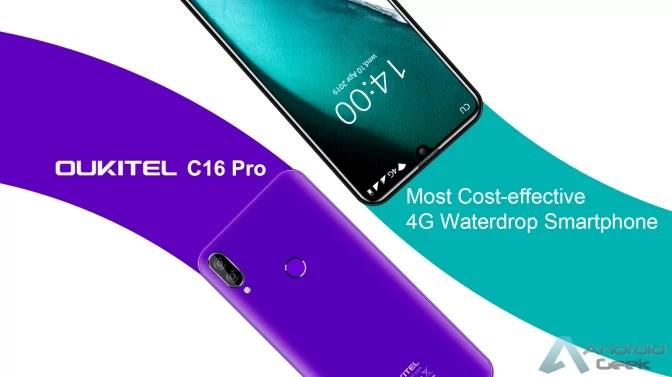 Novo OUKITEL C16 Pro apresentado como o mais económico smartphone 4G com ecrã Waterdrop 1