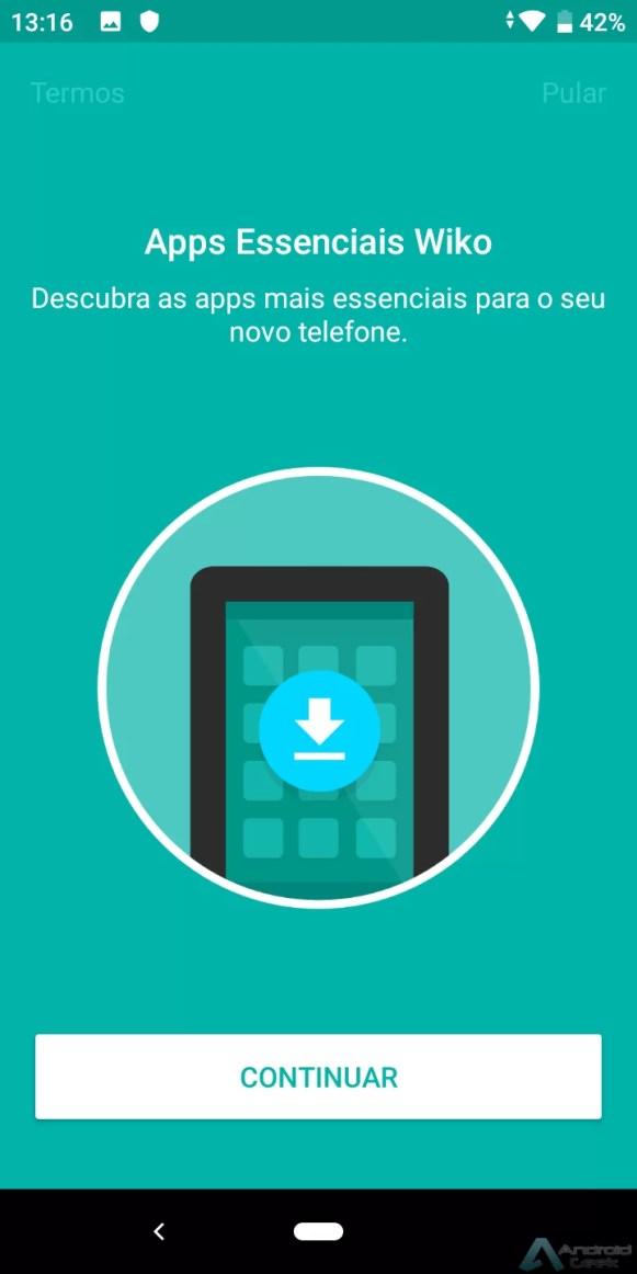 bloatware é sugerido na configuração do telefone