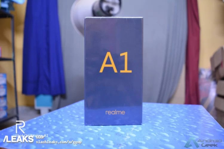 Caixa de varejo Realme A1