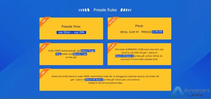 OUKITEL Y4800 com 48MP e Helio P70 Soc, entra em pré venda a 22 de julho por apenas US $ 199,99 2