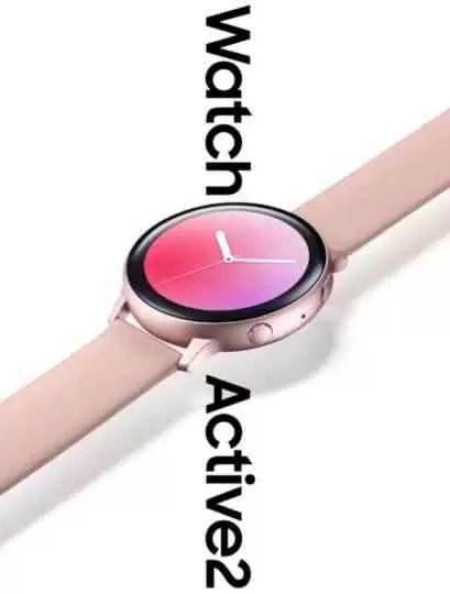 Galaxy Watch Active 2 em fuga de informação, revela acabamento Rose Gold 1