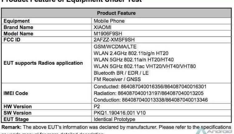 Possível Xiaomi Mi A3 com tripla câmara de 48MP IA, certificado 3