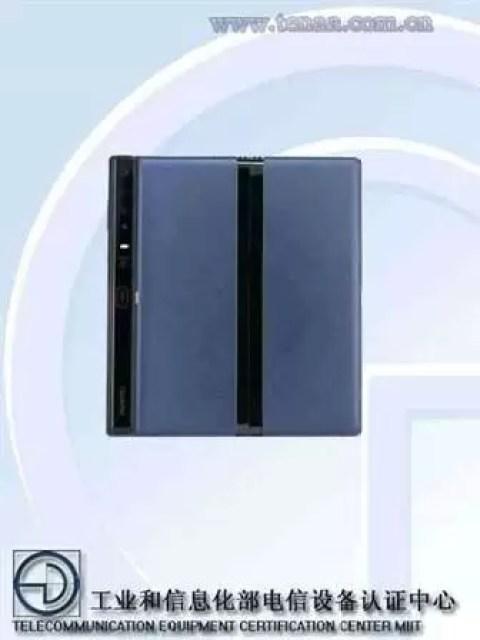 Huawei Mate X TENAA traseiro