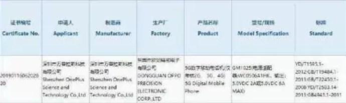 OnePlus 7 Pro 5G 3C Certificado