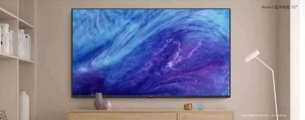 Redmi TV com ecrã HDR 4K de 70 polegadas, 2 GB de RAM lançada por € 480 1