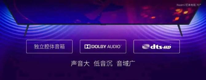Redmi TV com ecrã HDR 4K de 70 polegadas, 2 GB de RAM lançada por € 480 4