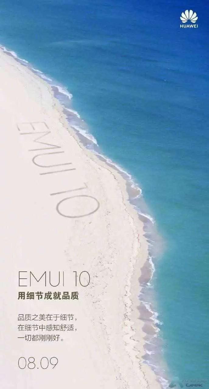 Cartaz da data de lançamento de EMUI 10
