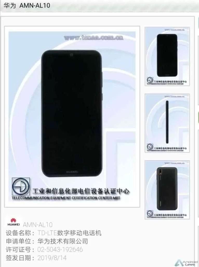 Huawei AMN-AL10 de nível de entrada passa pela TENAA 2
