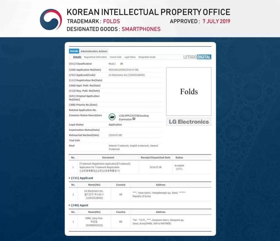Patente mostra próximo flagship da LG com ecrã perfurado 1