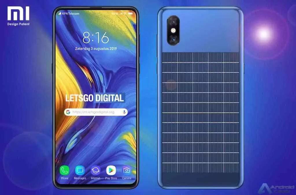 Xiaomi patenteia smartphone equipado com painel solar 1