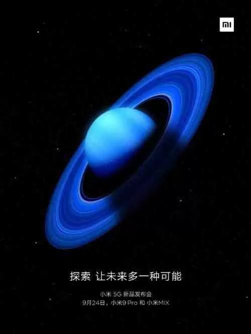 Xiaomi confirma Mi 9 Pro e Mi Mix 4 lançamento evento definido para 24 de setembro