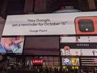 Google Pixel 4 mostrado na cor Oh So Orange