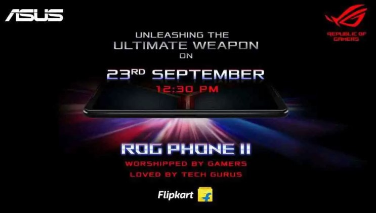 Data de Lançamento do ASUS ROG Phone 2 India