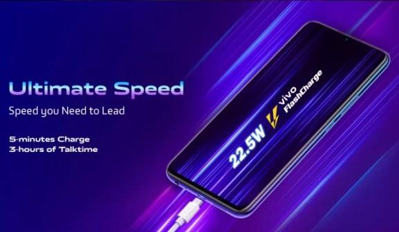 Vivo Z1X carregamento rápido