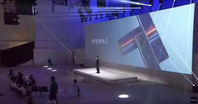 Teste de transmissão ao vivo do Xperia 5