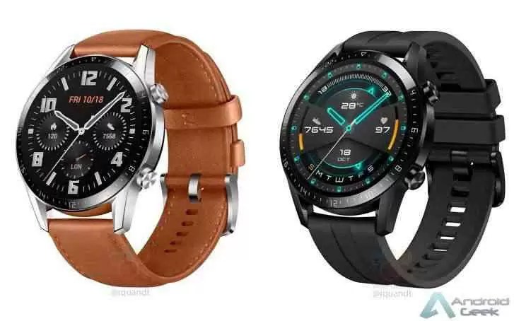Huawei Watch GT 2 vaza com molduras menores e bateria maior