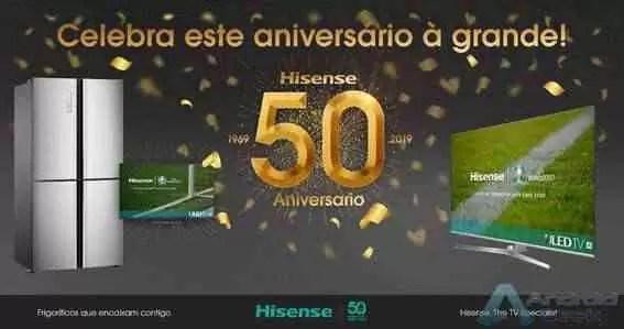 Hisense celebra 50 anos de história com promoções exclusivas em vários dos seus produtos estrela com a melhor tecnologia 3