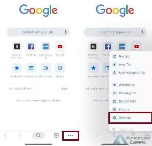 Como ocultar artigos sugeridos do Google Chrome em dispositivos Android e iPhone 2