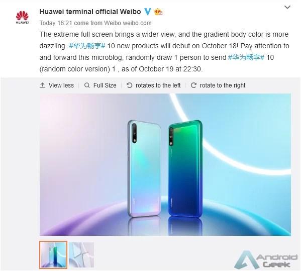 Lançamento do Huawei Enjoy 10