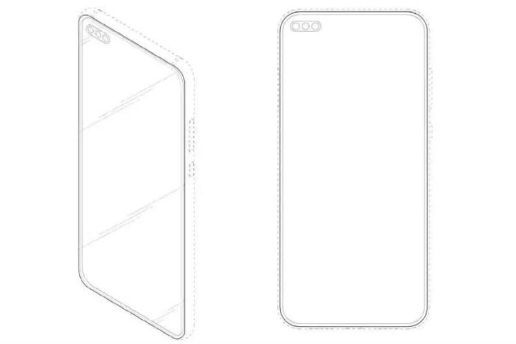 Patente dianteira do Samsung Galaxy S11