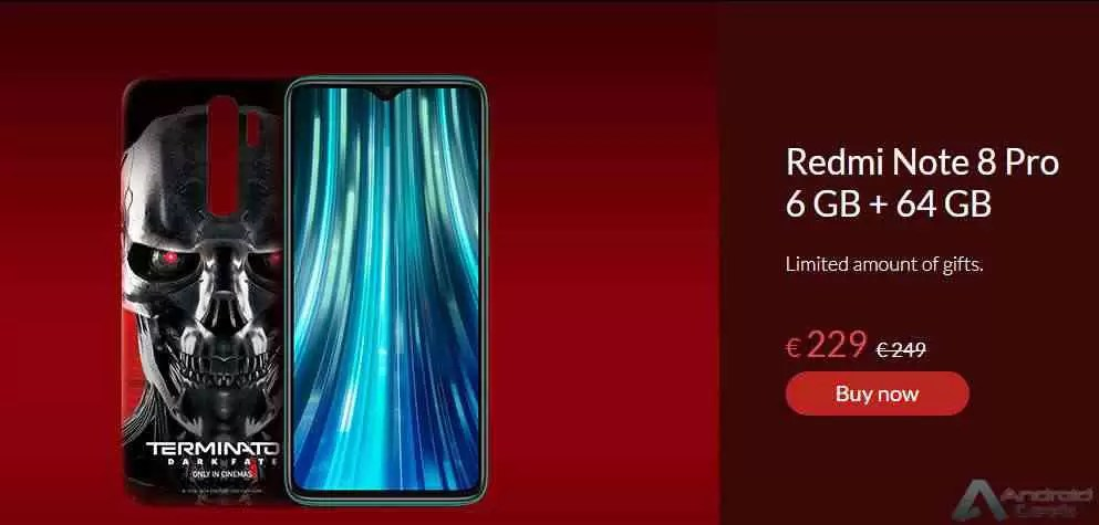 Venda do Xiaomi Redmi Note 8 Pro Terminator Edition começa a 29 de outubro 1