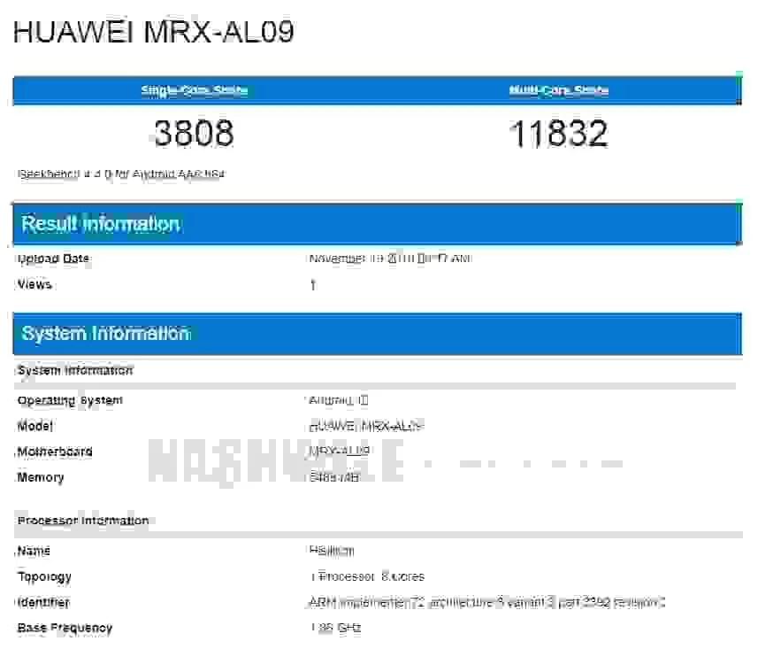 Alegados Honor V30 5G e Huawei MatePad são vistos no Geekbench 1
