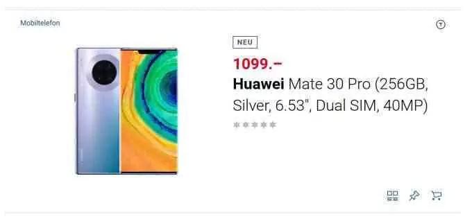 Huawei Mate 30 Pro sobe para pré-venda em grande varejista suíço