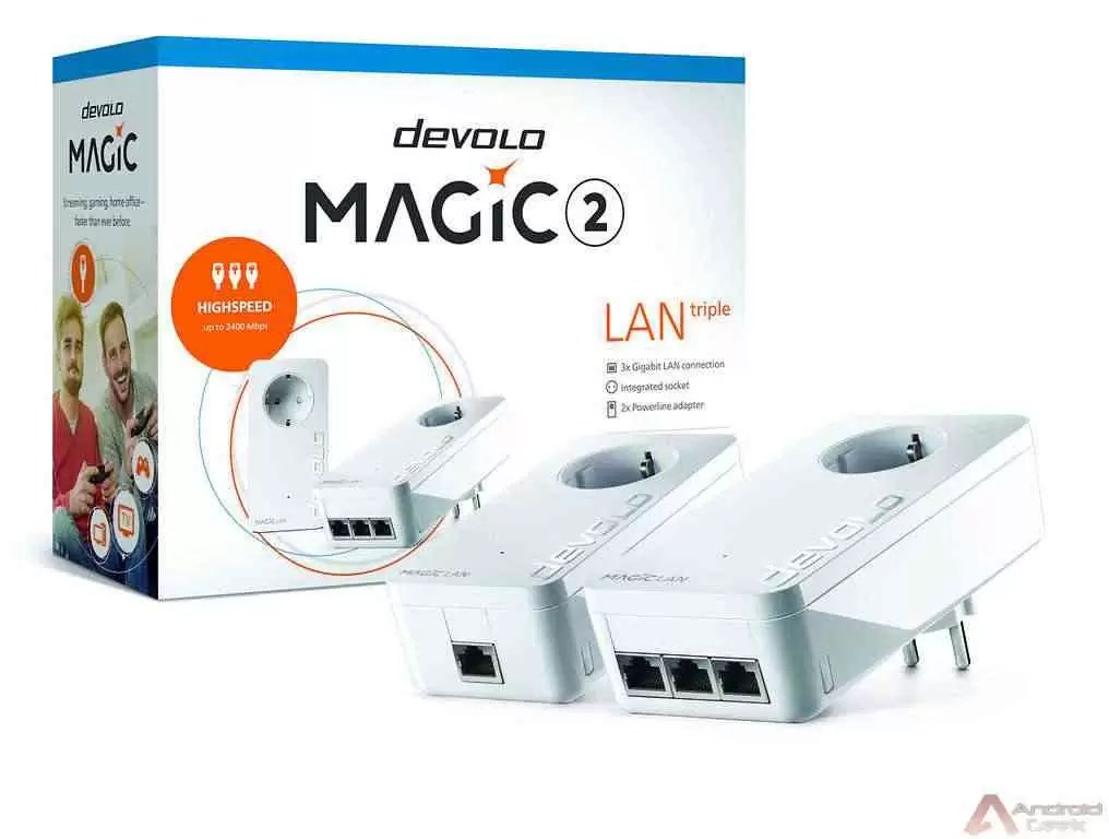 devolo Magic 2 LAN triple é possivelmente o mais rápido Adaptador Powerline com três portas LAN Gigabit 1