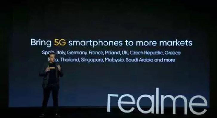 Realme introduzirá pelo menos mais 5 smartphones 5G em 2020