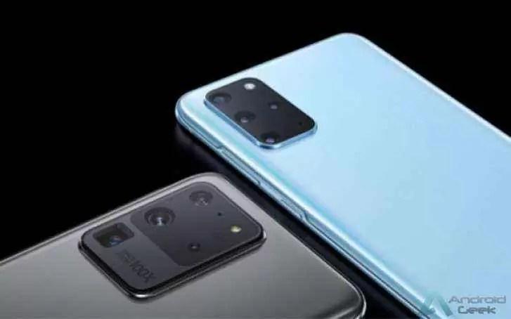 Superfícies de preços europeias do trio Samsung Galaxy S20