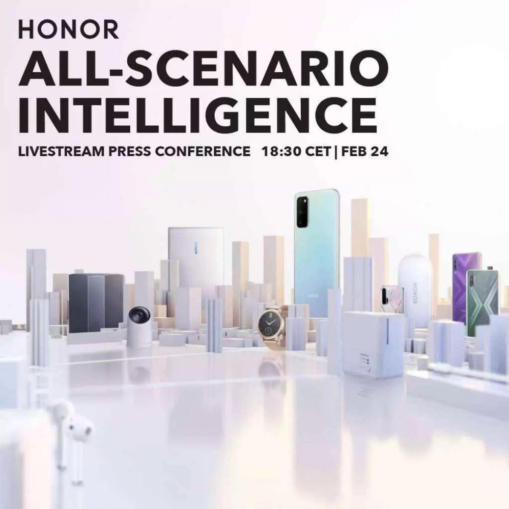Honor lançará novos produtos na conferência de imprensa on-line a 24 de fevereiro 1